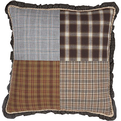 VHC Brands Rustic & Lodge Farmhouse Pillows & Throws - Rory Grey Patchwork 18