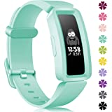 KOLEK Bands Compatible with Fitbit Ace 2 for Kids,Soft Silicone Waterproof Bracelet Accessories Sports Watch Strap…