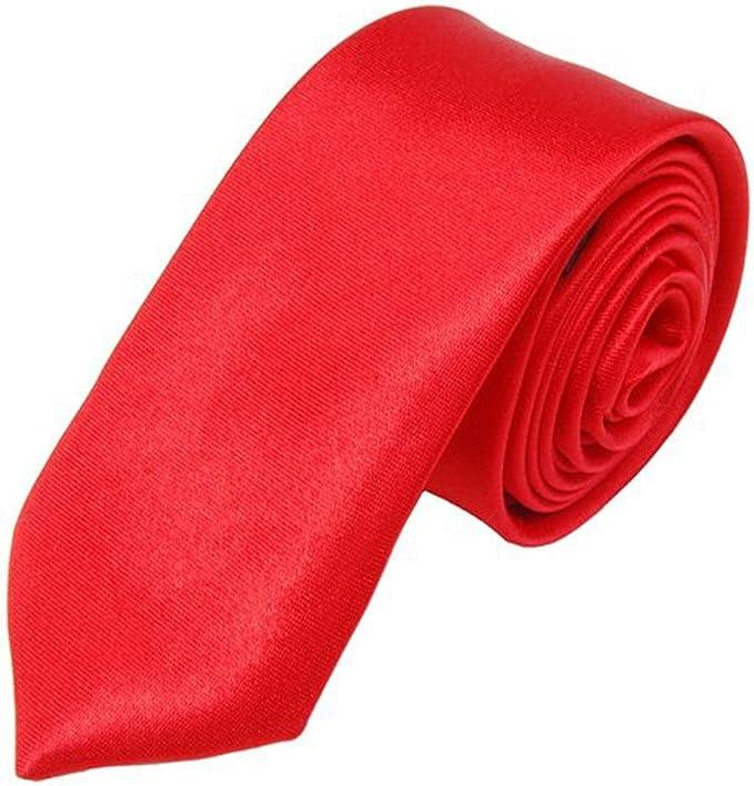 SODIAL(R) SODIAL(R) Corbata Unisex Corbata Casual Estrecha Delgada ...