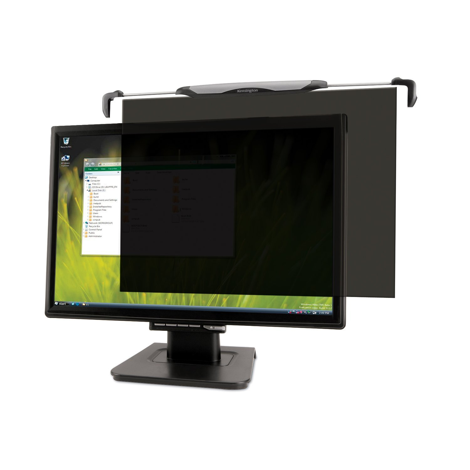 K55315WW Kensington FS240 Snap2 Privacy Screen for 22-Inch to 24-Inch Widescreen 16:10 and 16:9 Monitors