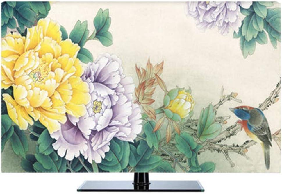 LJXX TV Cubierta 19 Pulgadas 80 Pulgadas LCD TV Cubierta Decorativa Pintura de Cortina Lily Flower Track Impermeable Verde Azul 65 Pulgadas Igual Que la Foto: Amazon.es: Electrónica
