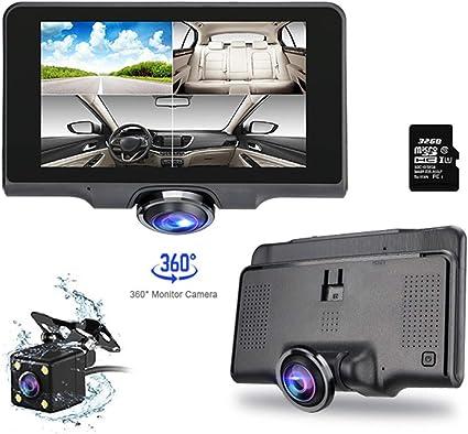 """4.5/"""" Car DVR 360° Panoramic HD Dash Cam Video Recorder Dual Lens Revesing w//32GB"""