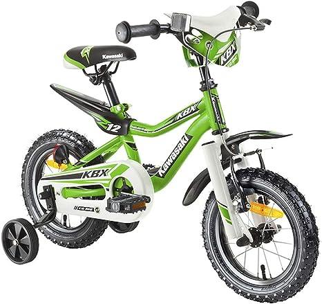 Kawasaki bicicleta infantil juniso 12 pulgadas KBX verde, freno de ...