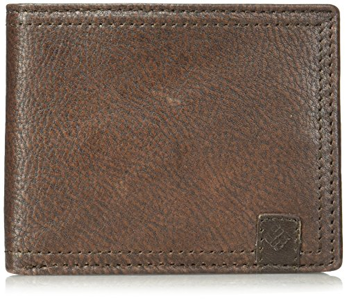 Columbia Men's 100% Leather Extra Capacity Traveler Wallet, Brown