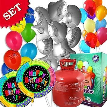 Set Cumpleaños, 50 Globo de helio Globos, GLOBOS y de gas de 11: Amazon.es: Juguetes y juegos
