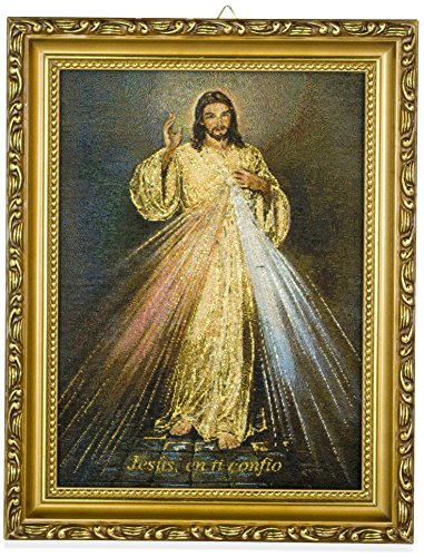 Framed Mexican Embroidery (Divine Mercy)