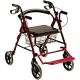 Andador y silla de ruedas, Aluminio, Plegable, Freno en ...