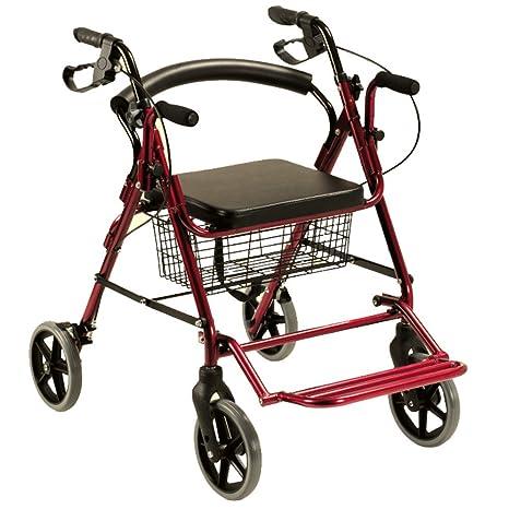 Andador convertible en silla de ruedas