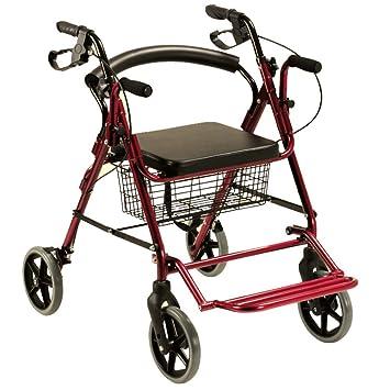 Andador rollator y silla de ruedas para ancianos 2 en 1: Amazon.es: Salud y cuidado personal