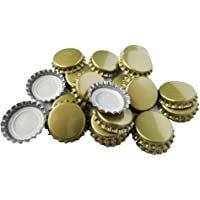 TRIXES 100 Pizas de Metal Dorado Tapas