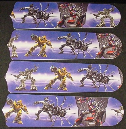 Ceiling Fan Designers 42SET-KIDS-TR Transformers Robots 42 in. Ceiling Fan Blades Only