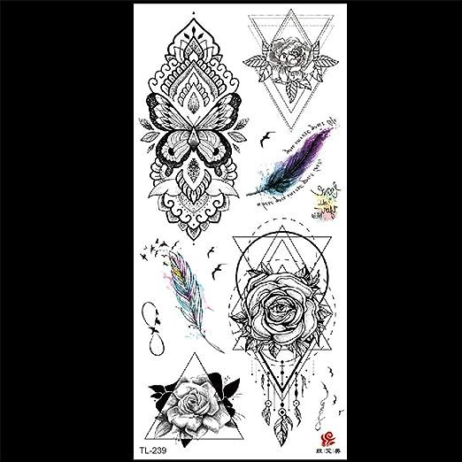 zgmtj Color Impermeable, Otra Flor de Orilla, Etiqueta de Tatuaje ...