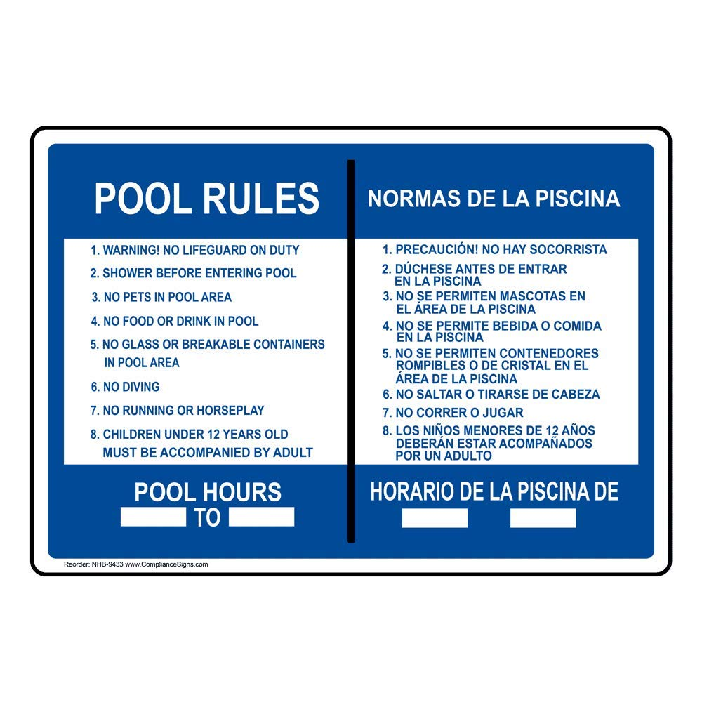Amazon.com: compliancesigns señal de piscina/SPA de ...
