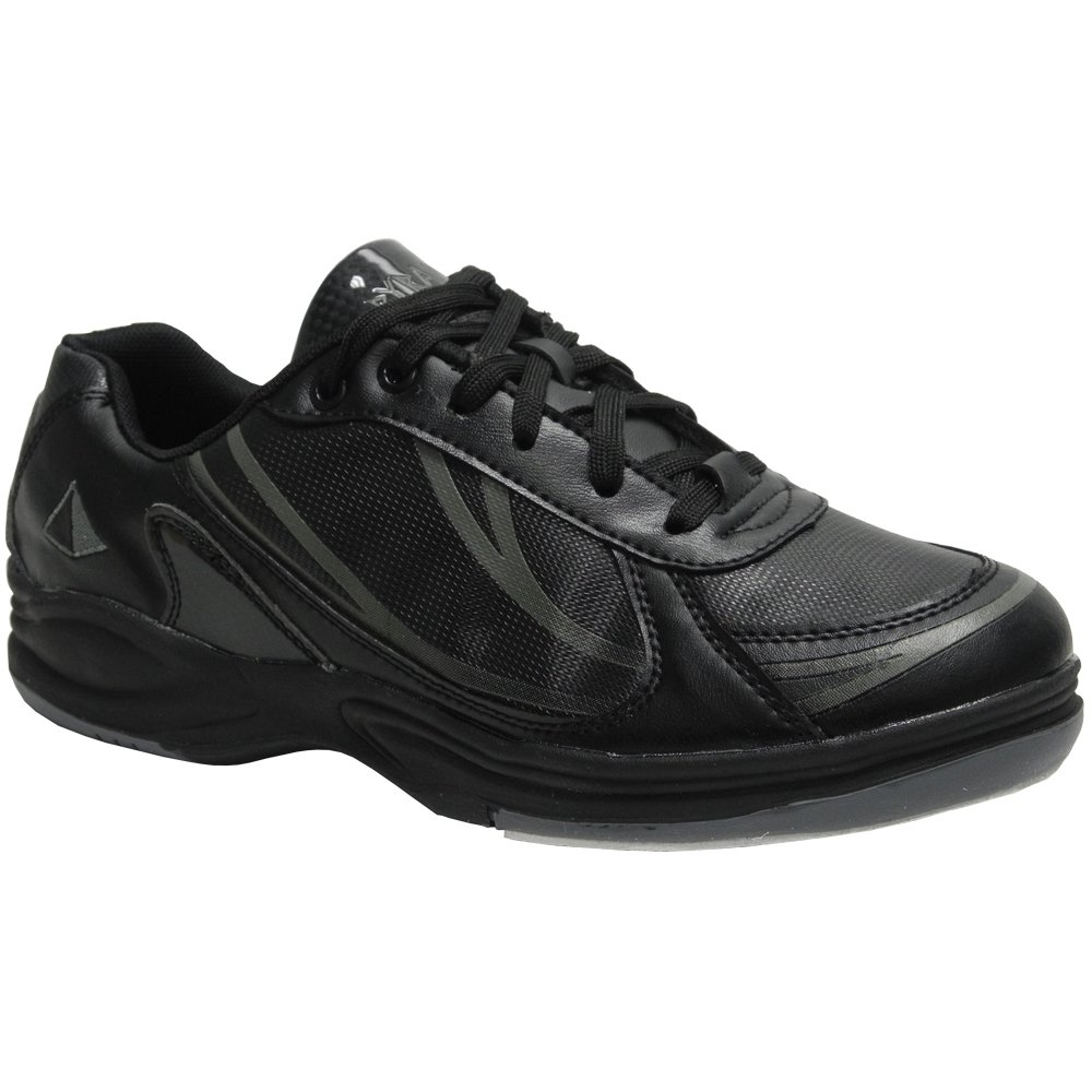 Pyramid Mens Path Sport Bowling Shoes (Black/Gunmetal Grey, Size 9.5) by Pyramid