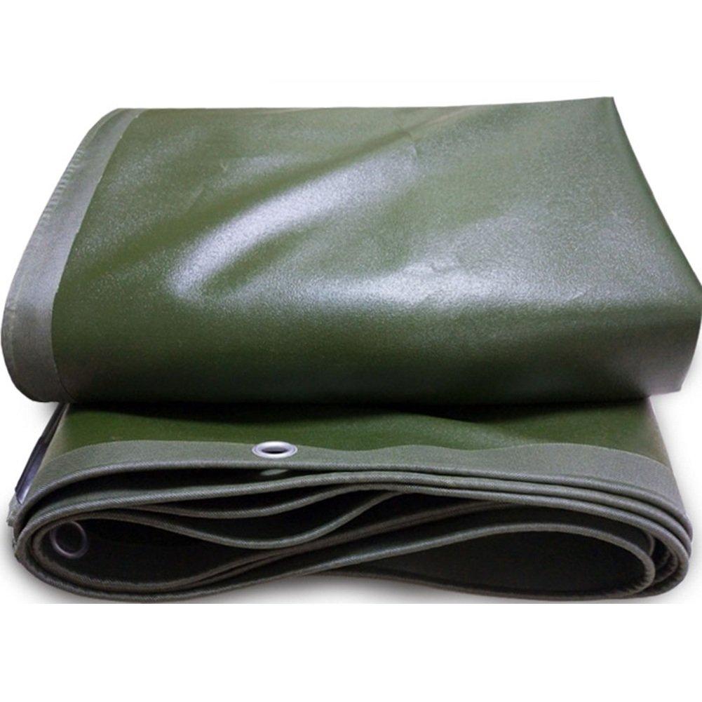 CHAOXIANG オーニング 厚い キャンバス 防水 アンチサン 耐摩耗性 耐食性 耐寒性 老化防止 PVC 緑、 650g/M 2、 厚さ 0.7mm、 15サイズ (色 : 緑, サイズ さいず : 2x5m) B07D33NF1X 2x5m|緑 緑 2x5m