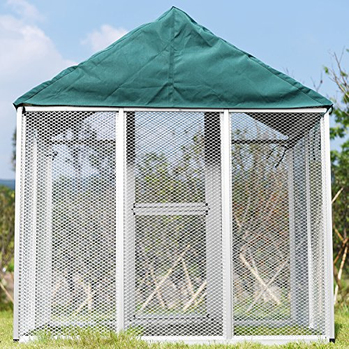 """Usexport Large Bird Cage Waterproof Polyester Cover Blanket Breathable Non-toxic Green 69.7"""" L X 49."""