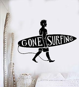 Surfing Wall Decal Beach Wall Art Sticker Decor Decals Market