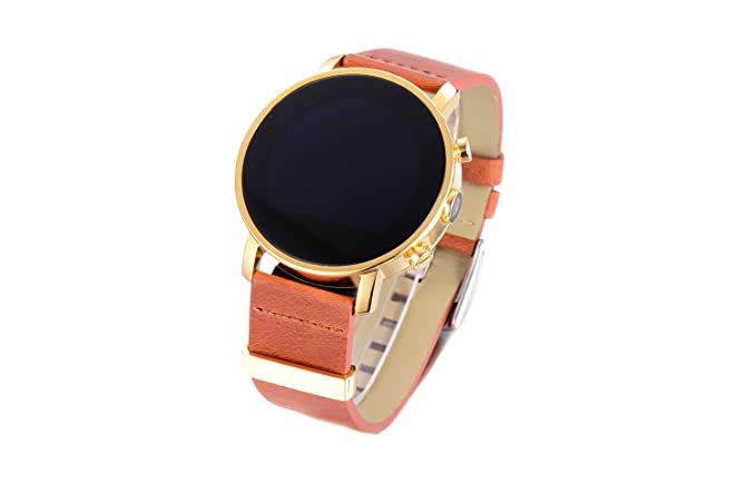 ad12e3da3 Image Unavailable. Image not available for. Color  Sanoxy Brown Cognac  Collection Round Smartwatch Phone with SIM Card ...