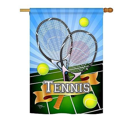 Amazon.com   Breeze Decor H109002 Tennis Interests Sports Decorative  Vertical House Flag 190b4fd17e22f