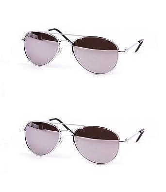 Amazon.com: Los niños Metal Classic Aviator lente anteojos ...
