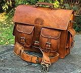 Men's Genuine Leather Vintage Laptop Messenger Handmade Briefcase Bag Satchel DHK