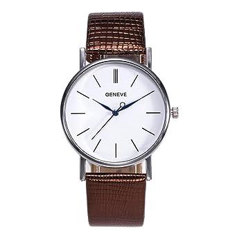 4a131783e3 EARS Damenuhr Modeglas gespiegelt Lederband Uhr Armbanduhr Damen Uhr ...
