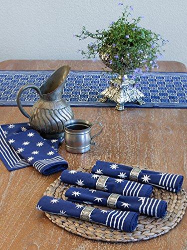 Starry Nights ~ Blue Batik Cloth Dinner Table (Hand Batik Cotton Table Runner)