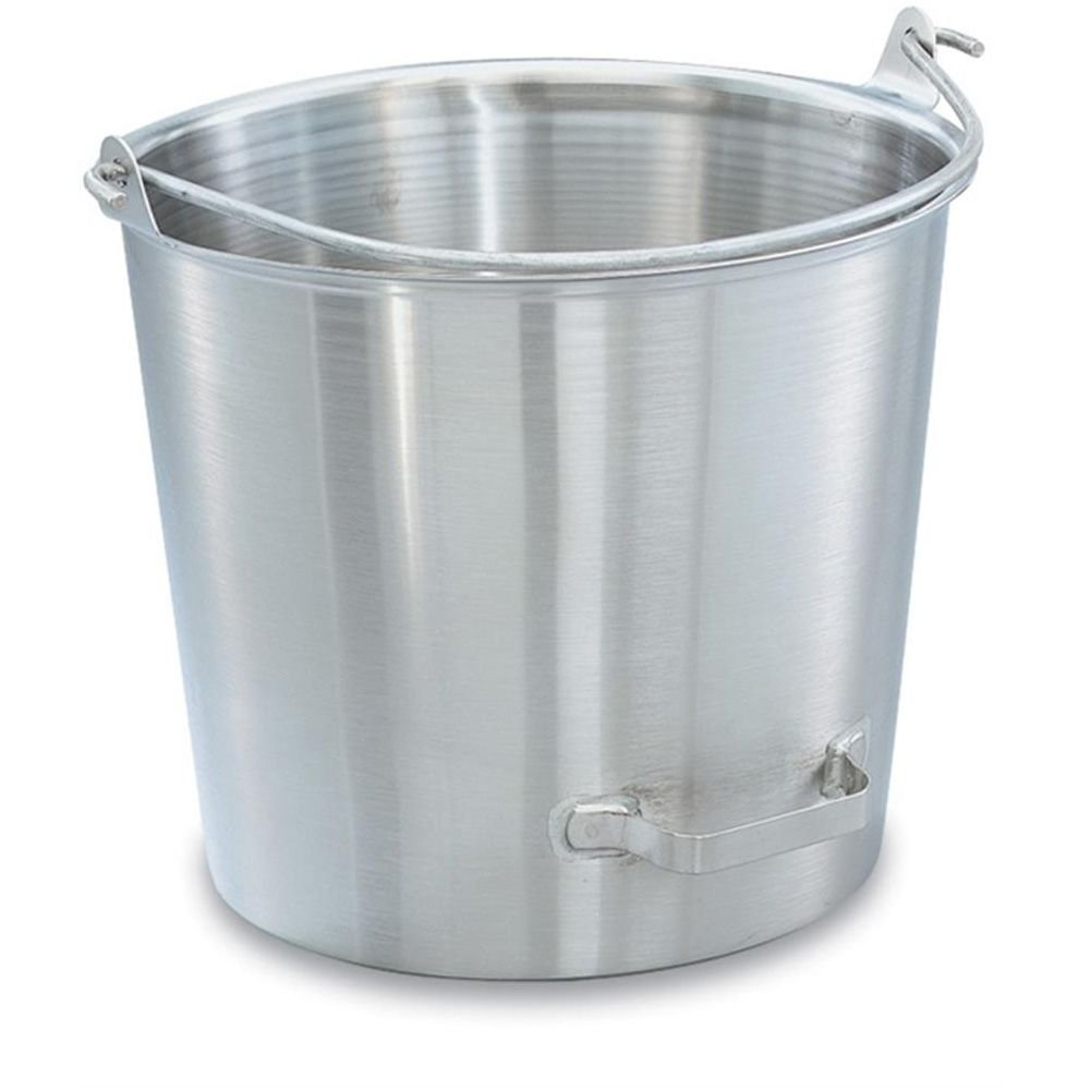 Vollrath 58161 Tapered 14.75 Quart Dairy Pail w/ Side-Tilting Handle