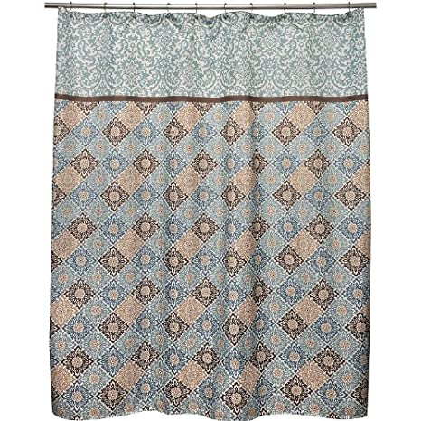 Amazon WAVERLY Sweet Things Spa Fabric Shower Curtain Home