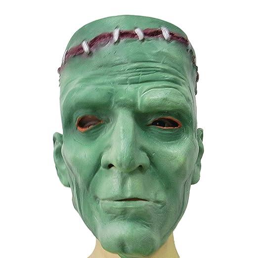 Happyyami Diablo Verde Tocado máscara de látex científico Loco ...