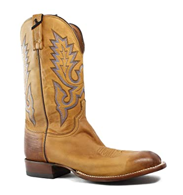 443cd249ec404 Amazon.com | Lucchese New Mens Kd6505.Wf Tan Burnished Cowboy ...
