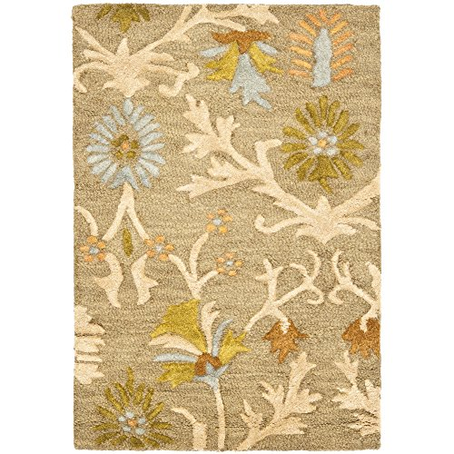 (Safavieh Cambridge Collection CAM235A Handcrafted Moroccan Geometric Moss and Multi Premium Wool Area Rug (2' x 3'))