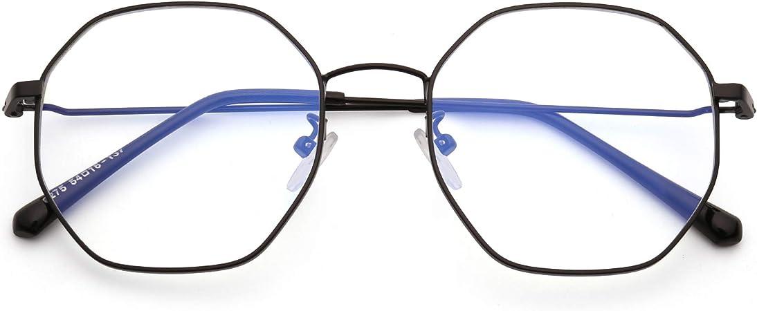 JM Mujer Anti Luz Azul Bloquea Gafas de Moda Dise/ñador Computadora Anteojos Reduce Fatiga Visual Negro