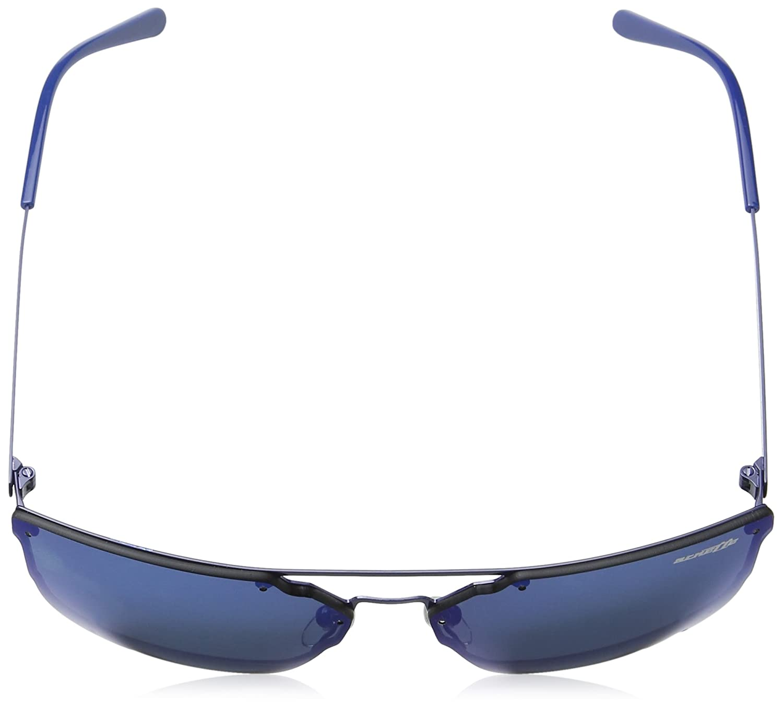 Arnette Mens Hundo-p1 Non-Polarized Iridium Square Sunglasses BLUE 63 mm 0AN3073