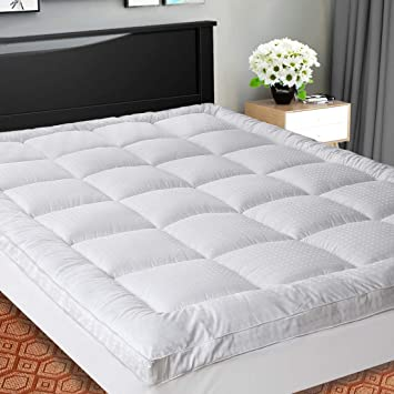 Amazon.com: SOPAT Extra Thick Mattress Topper (Queen),Cooling