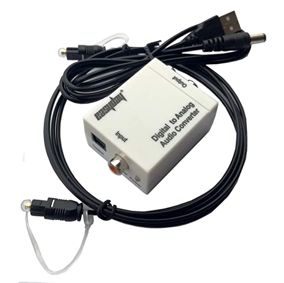 easyday Digital Optical Coax To Analog Rca L/R Audio Converter Adapter with 150 cm Optic Cable: Amazon.es: Electrónica