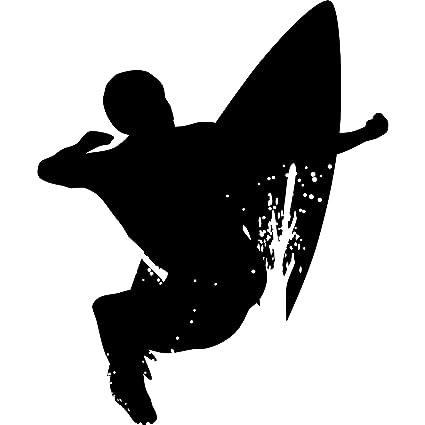 Thevinylguru Surf Wall Decal Sticker Surfing Sport Silhouette Decoration 12 In Black