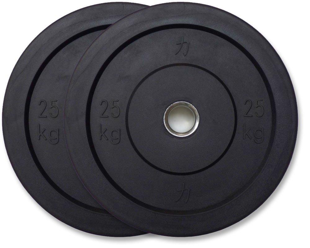 STRENGTHSHOP Riot Bumper Plates / Hantelscheiben, schwarz, je ein Paar 5 kg bis 25 kg