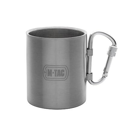 Amazon.com: m-tac viajes taza de café taza térmica de acero ...