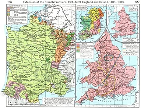 Amazon.com: FRANCE. Frontiers, 1601-1766; British Isles, 1485-1688 ...