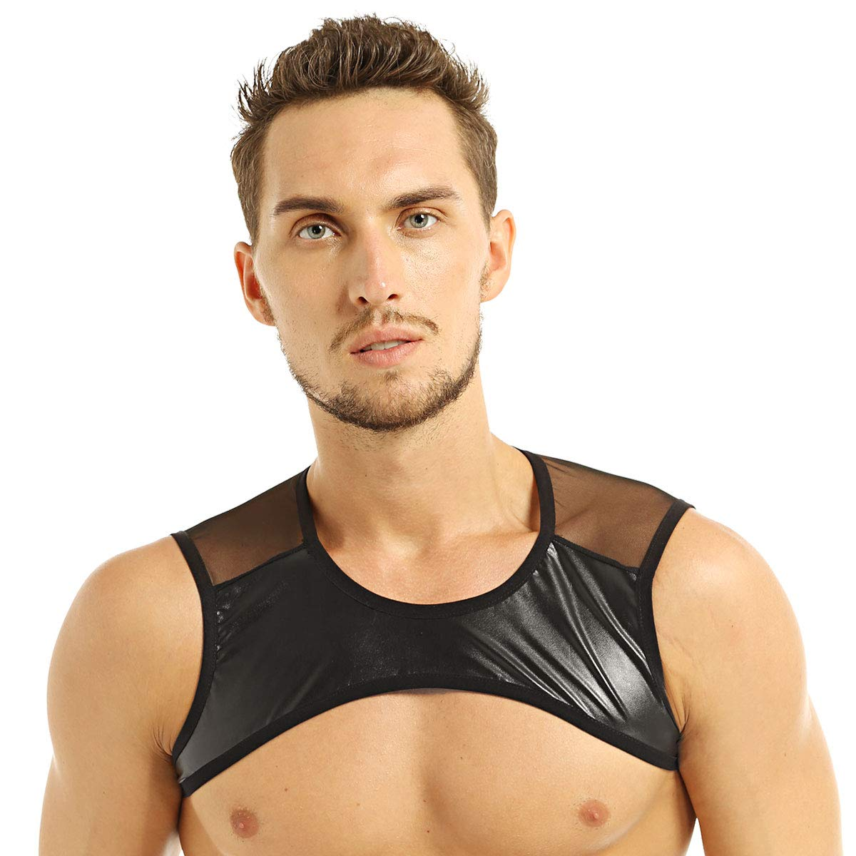 ACSUSS Men's See-Through Mesh Fishnet Muscle