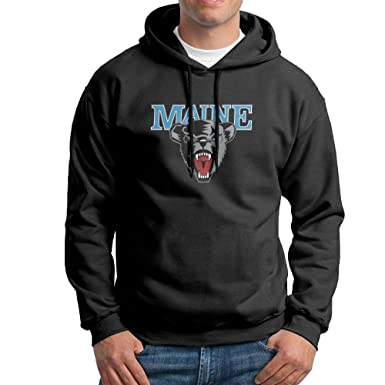 10b8c1f6a3b EVALY Men s Cute University Of Maine Black Bears Outwear Jacket Black  X-Large