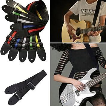 lilyeyes Fashion acústica eléctrica correa de guitarra Bass nailon ajustable Cinturón durable tira: Amazon.es: Instrumentos musicales