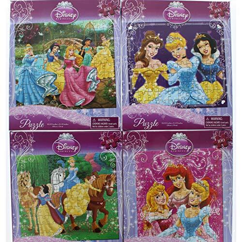 4 Pk. Disney Princess 100 Piece Jigsaw Puzzle (400 Total Pieces) ()