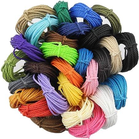 30 meter macramee yarn 1 mm white Krem jewelry cord jewelry thread for DIY chain bracelet crafts