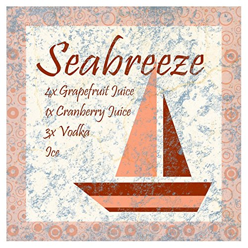 Global Gallery Art on a Budget Bg.Studio Cocktail Recipes - Sea Breeze Unframed Giclee on Paper Print, 36