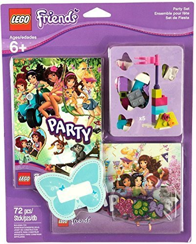 Amazon Com Lego Friends Party Supplies Set With Invitations