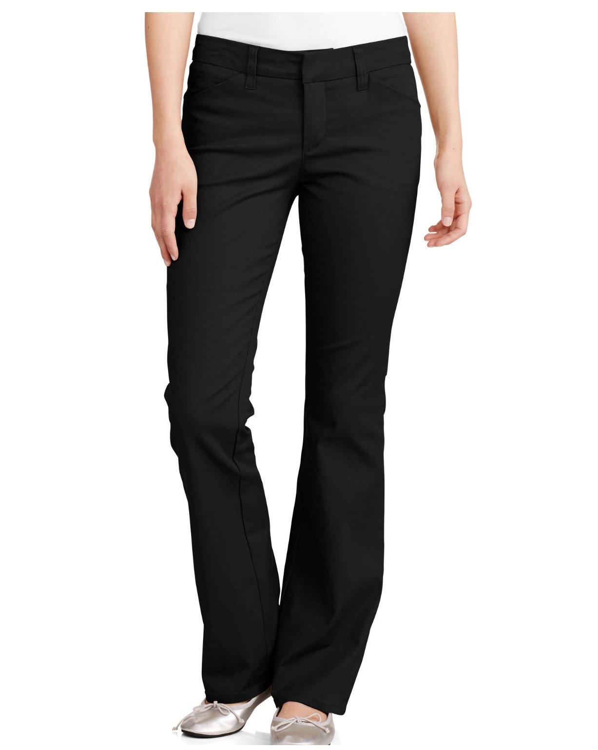 Dickies Junior's School Uniform 4 Pockets Slim Bootcut Pant, (5, Black)