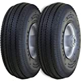 Marathon 2310 2-Pack 4.10/3.50-4' Pneumatic (Air Filled) Hand Truck/All Purpose Utility Tires on Wheels, 2.25' Offset…