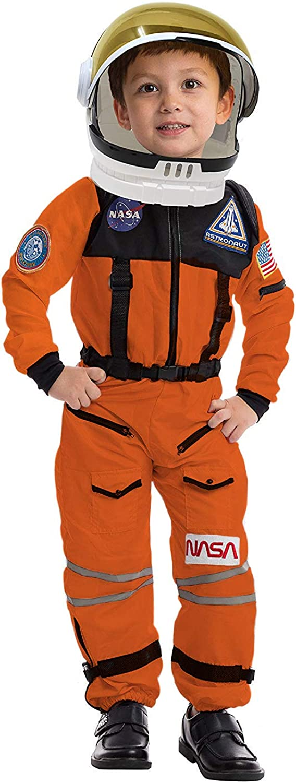 Halloween Disfraz De Astronauta NASA Con Casco Para Niño Disfraces 3-14 Años New